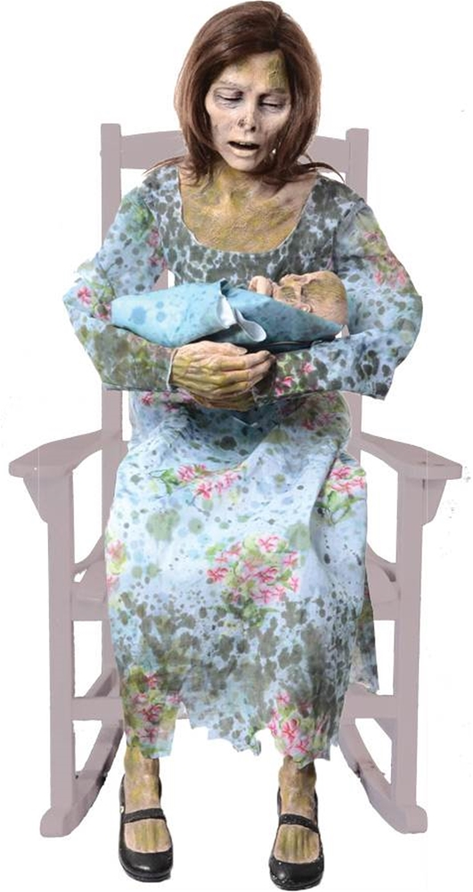 Rocking moldy mommy animated prop