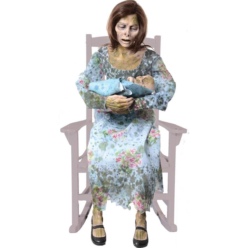 Www Halloween Decorating Ideas: Rocking Moldy Mommy Animated Prop