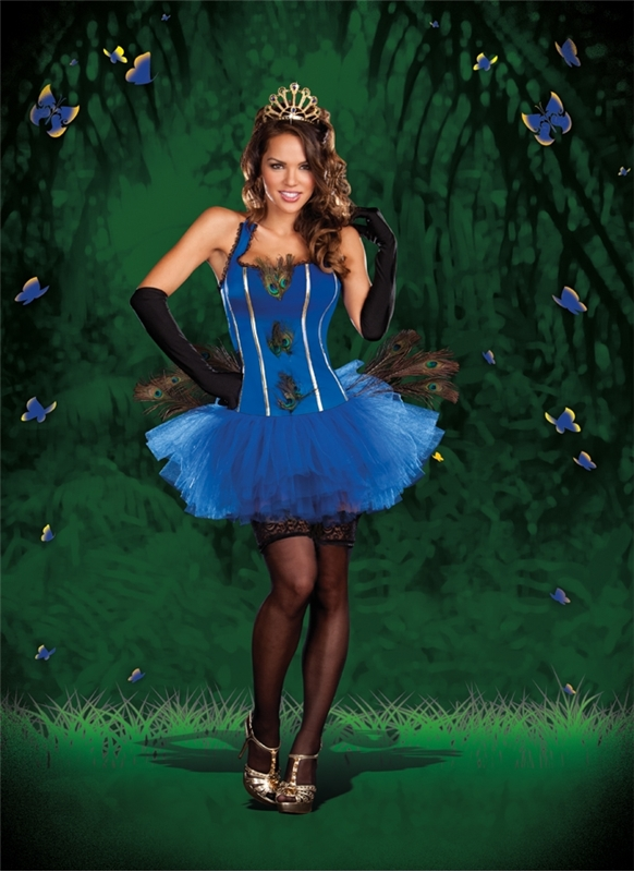 Royal Peacock Tutu Dress Adult Costume
