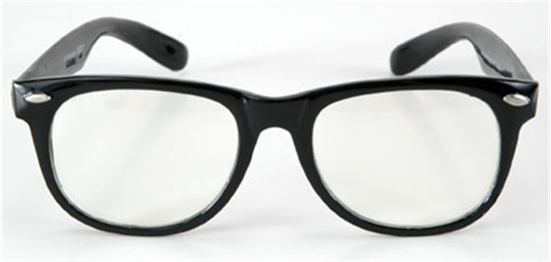 Blues Glasses Black with Clear by Elope