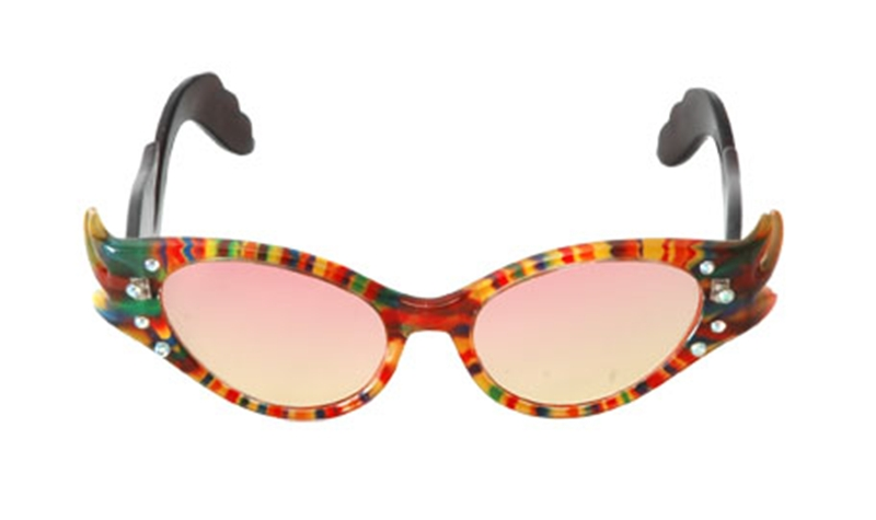 Feather Frame Rainbow Glasses