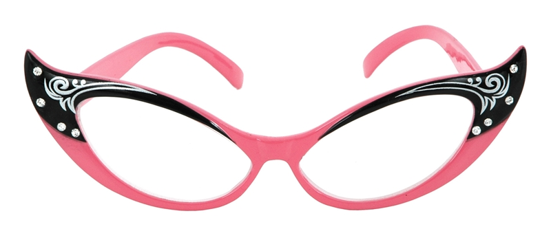 Vintage Cat Eye Glasses Pink by Elope