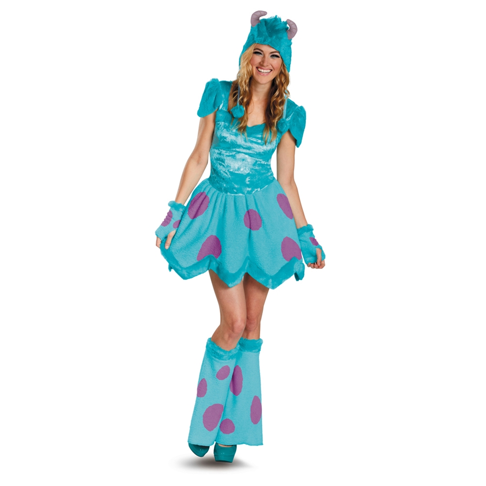 [Monsters University Sassy Sulley Adult Women Costume] (Monster University Costumes)