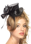 Black-Satin-Top-Hat-with-Flower-And-Bow