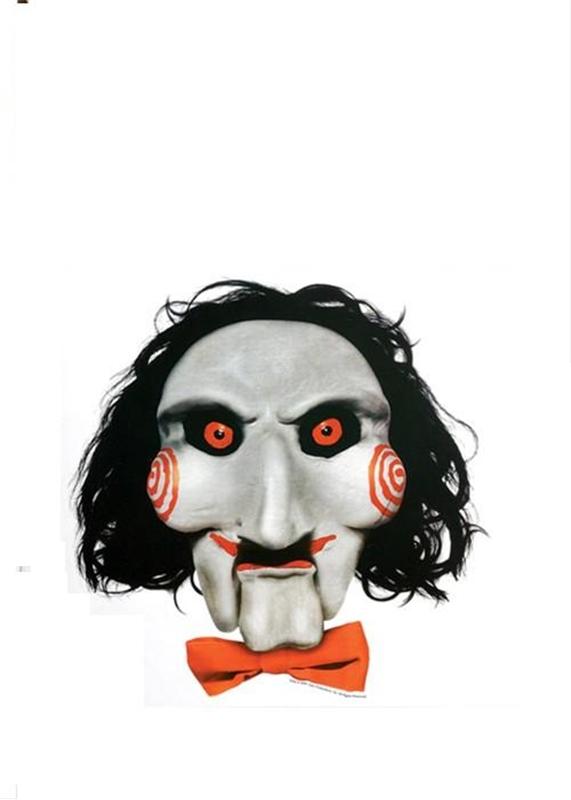 Saw Jigsaw Spooky Scenes Static Cling