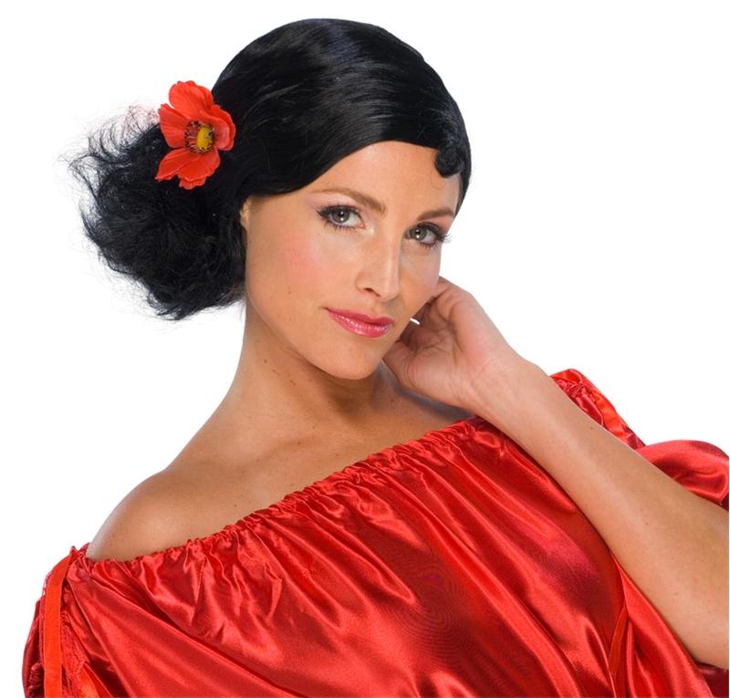 Senorita Black Wig