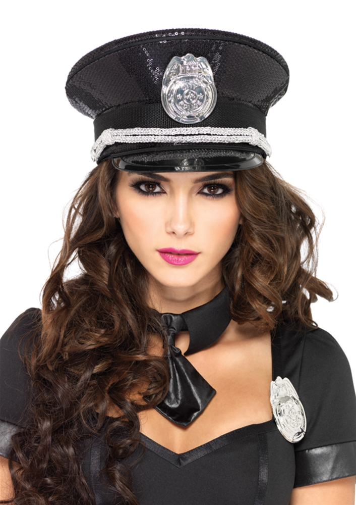 Sequin Police Officer Hat