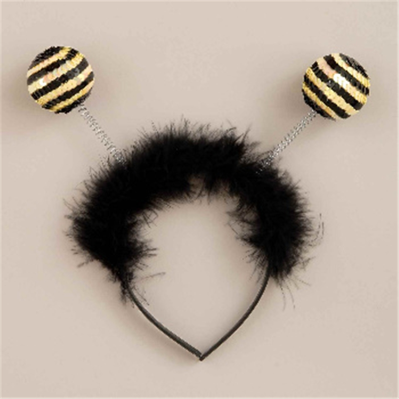 Sequin Bee Antenna Headband