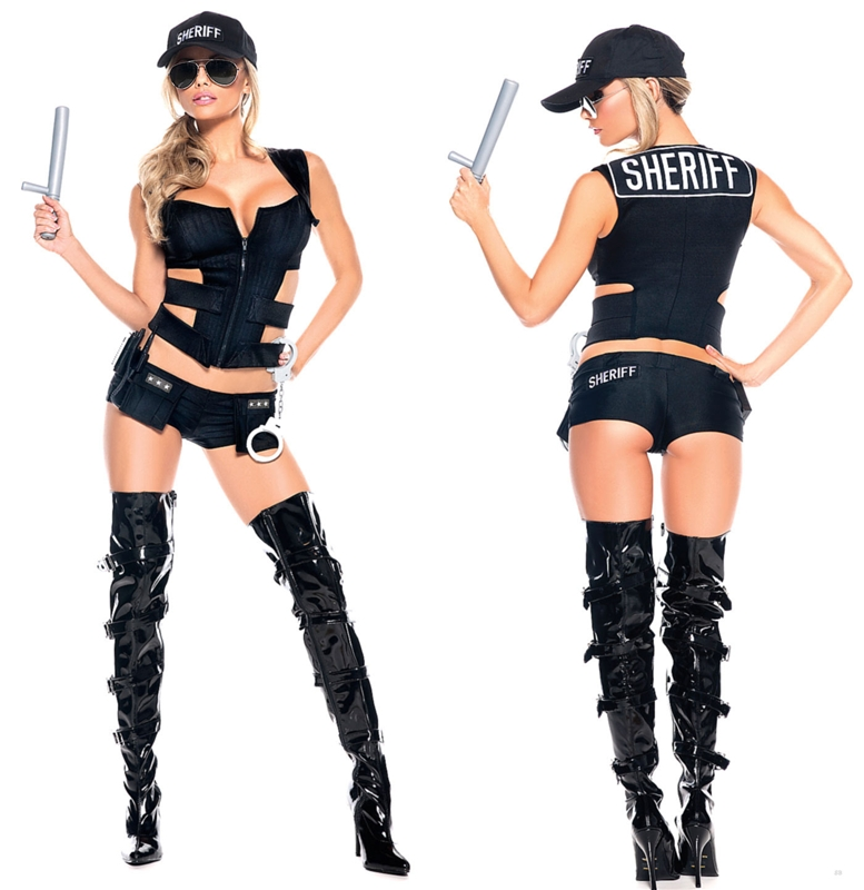 [Sheriff Sexy Adult Womens Costume] (Sheriff Costume Women)