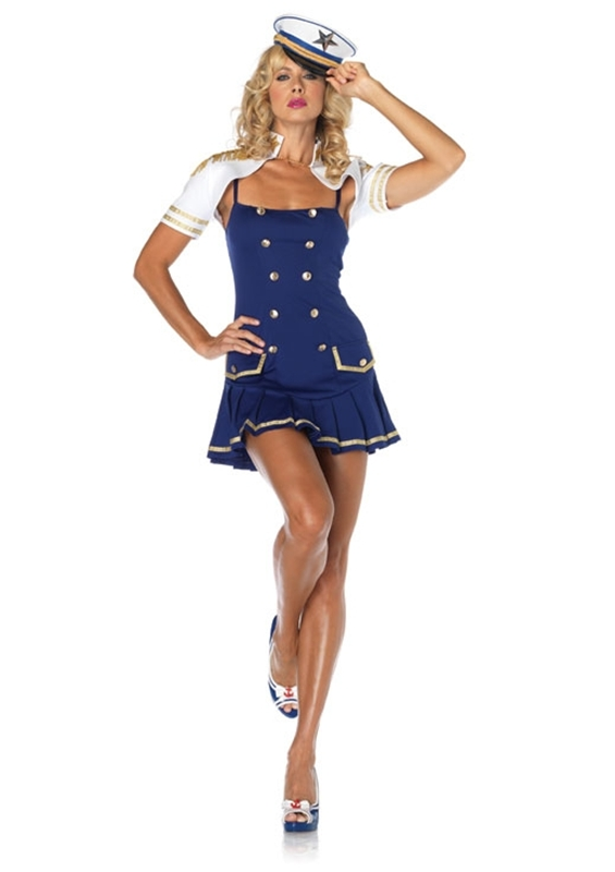 [Ship Shape Captain Sailor Adult Costume] (Ship Captain Costumes)