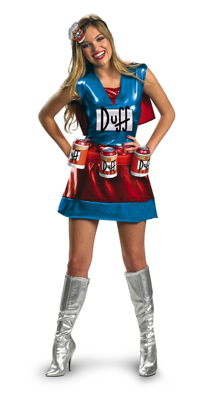 Simpsons Duffwoman Adult Womens Costume