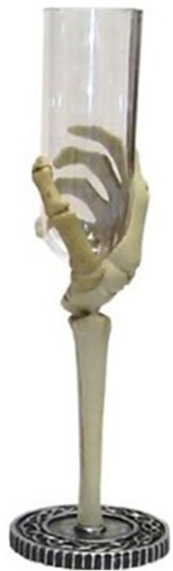 Skeleton Hand Flute Glass