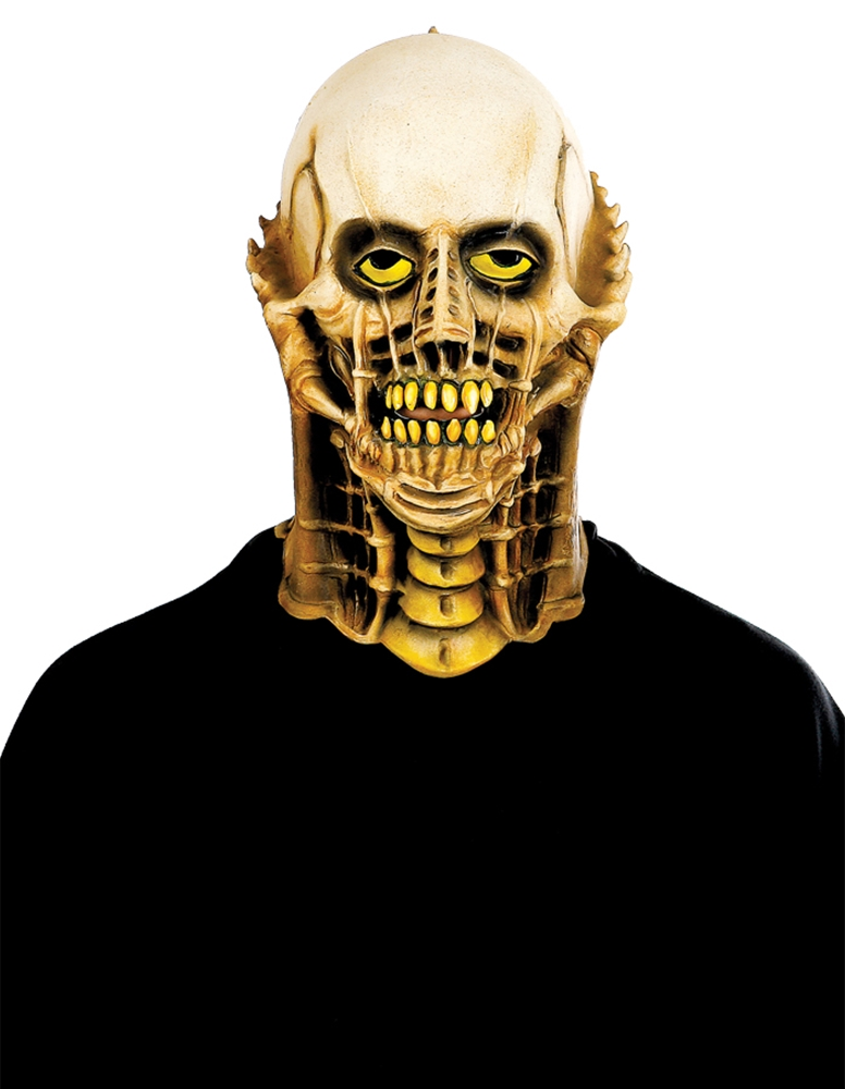 Skull Neck Jukebox Adult Mask