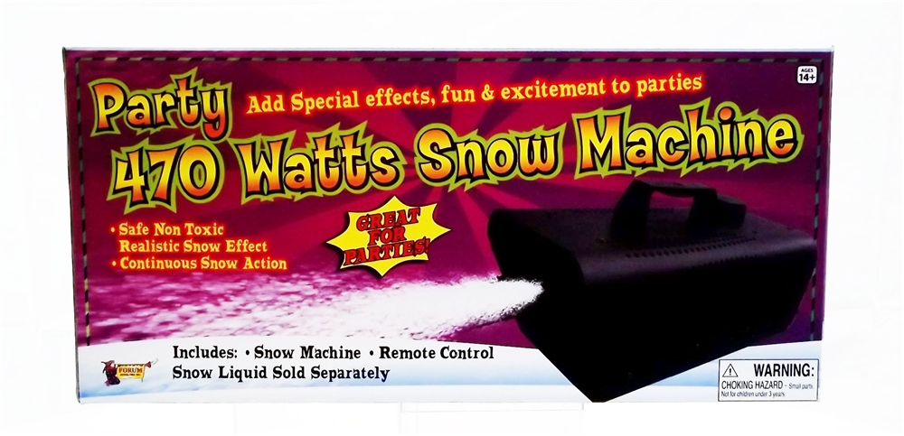Snow Machine With Remote 470 Watts