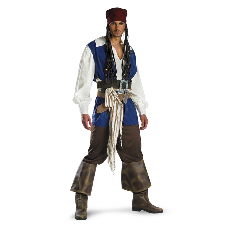 Captain Jack Sparrow Classic Plus Size Adult Mens Costume