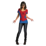 Spider Girl T-Shirt with Mask Junior Costume
