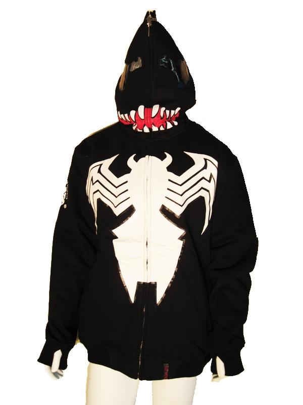 Image of Black Spider Adult Hoodie