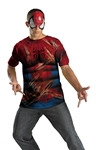 Spider-Man T-Shirt and Mask Plus Size Adult Mens Costume