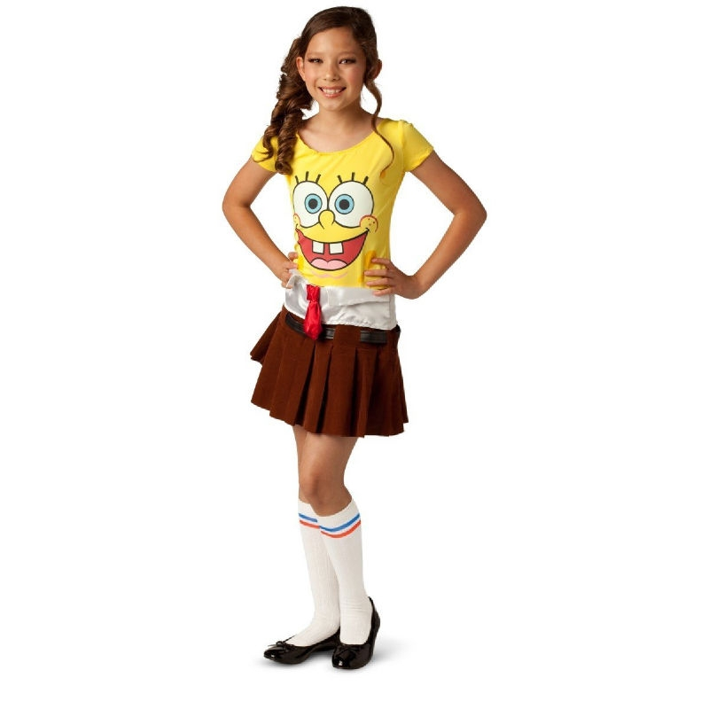 Spongebabe Child Girl Costume