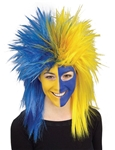 Sports-Fanatic-Blue-and-Yellow-Wig