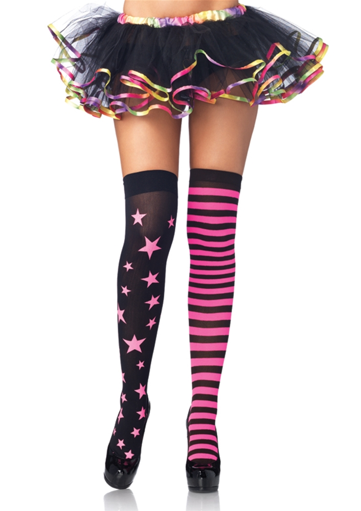 Stars And Stripes Thigh Highs Women Accessory