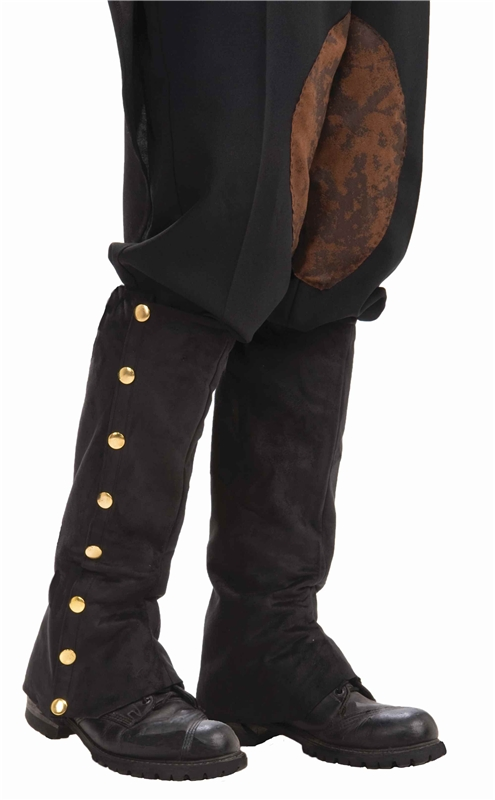 Steampunk Spats Black