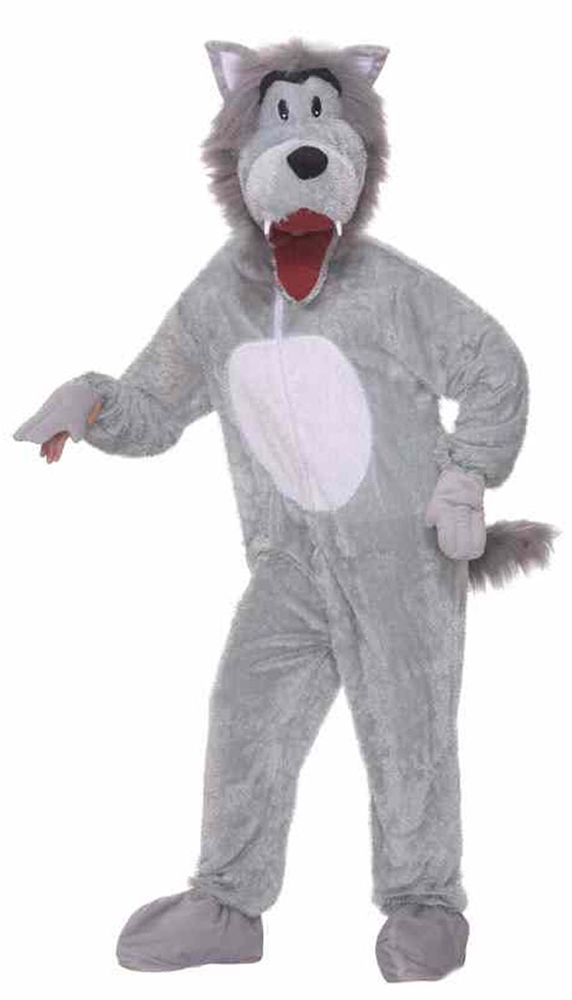 Story Book Wolf Plush Adult Mens Costume