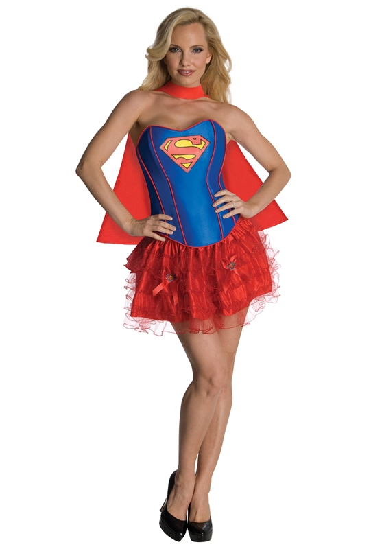 Supergirl Corset Adult Women Costume