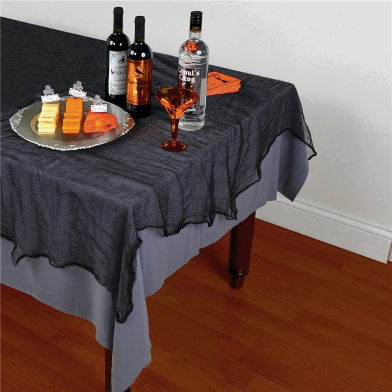 Image of Black Cheesecloth Tablecover
