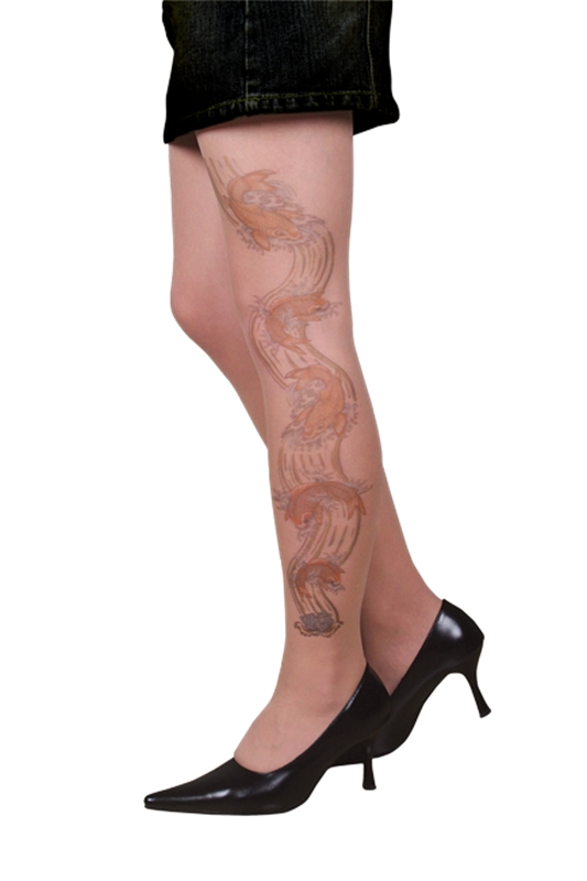 Tattoo Stocking Swimming Koi