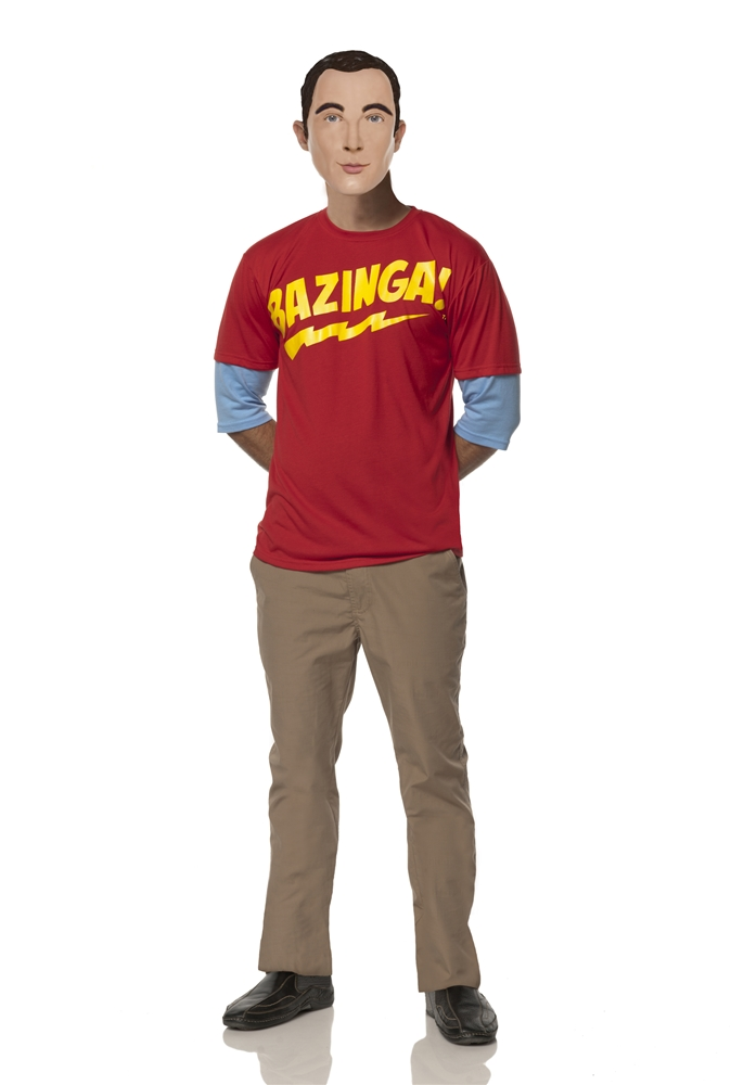 The Big Bang Theory Sheldon's Bazinga Adult Mens Costume