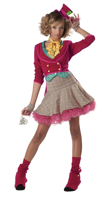 The Mad Hatter Jr / Teen Girls Costume by California Costumes