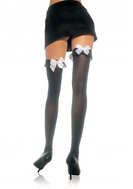 Thigh High Stockings with Ruffle by Leg Avenue