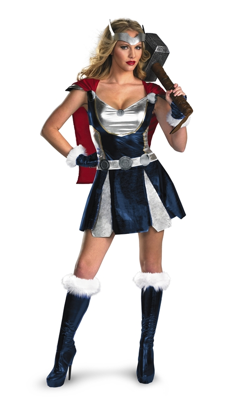 Marvel Thor Girl Dress Deluxe Adult Womens Costume