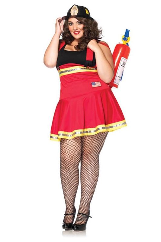Three Alarm Hottie Adult Womens Plus Size Costume