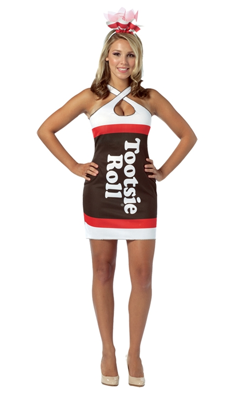Tootsie Roll Teardrop Dress Adult Women Costume