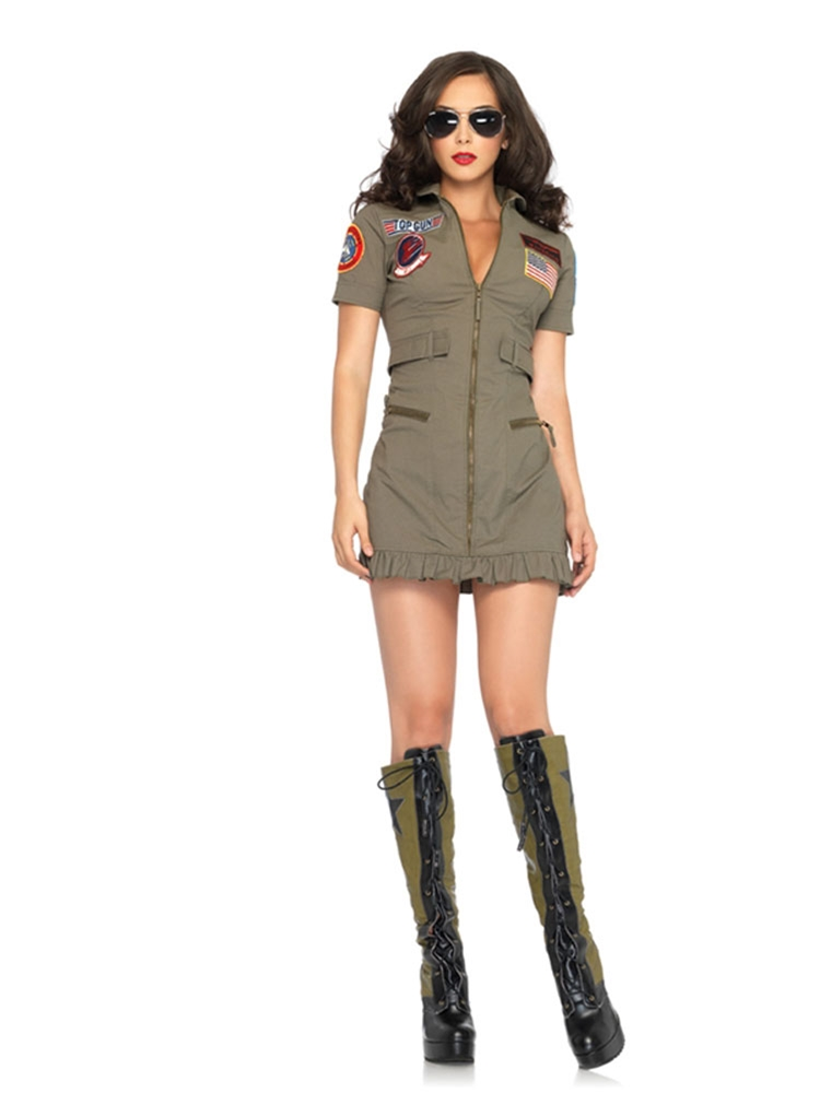 Top Gun Dress Adult Womens Costume by Leg Avenue