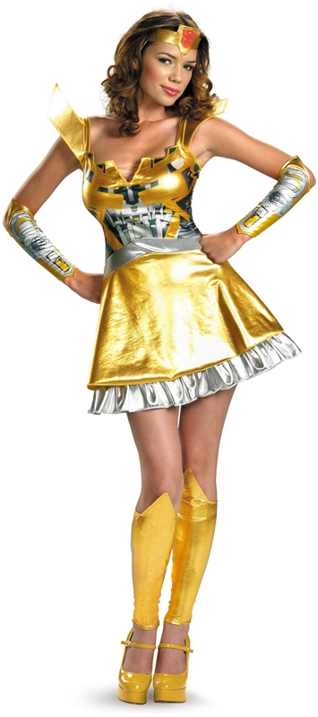 Transformers bumblebee dress adult costume