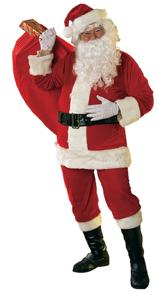 Velour Santa Claus Suit Plus Size Adult Mens Costume by Rubies
