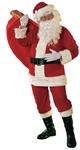 Velour Santa Claus Suit Plus Size Adult Mens Costume