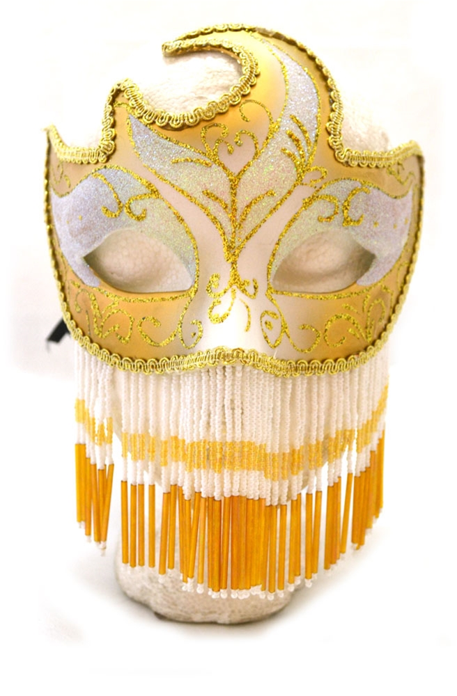 Venetian Beaded Mask (More Colors) by K.B.W. Global Corp
