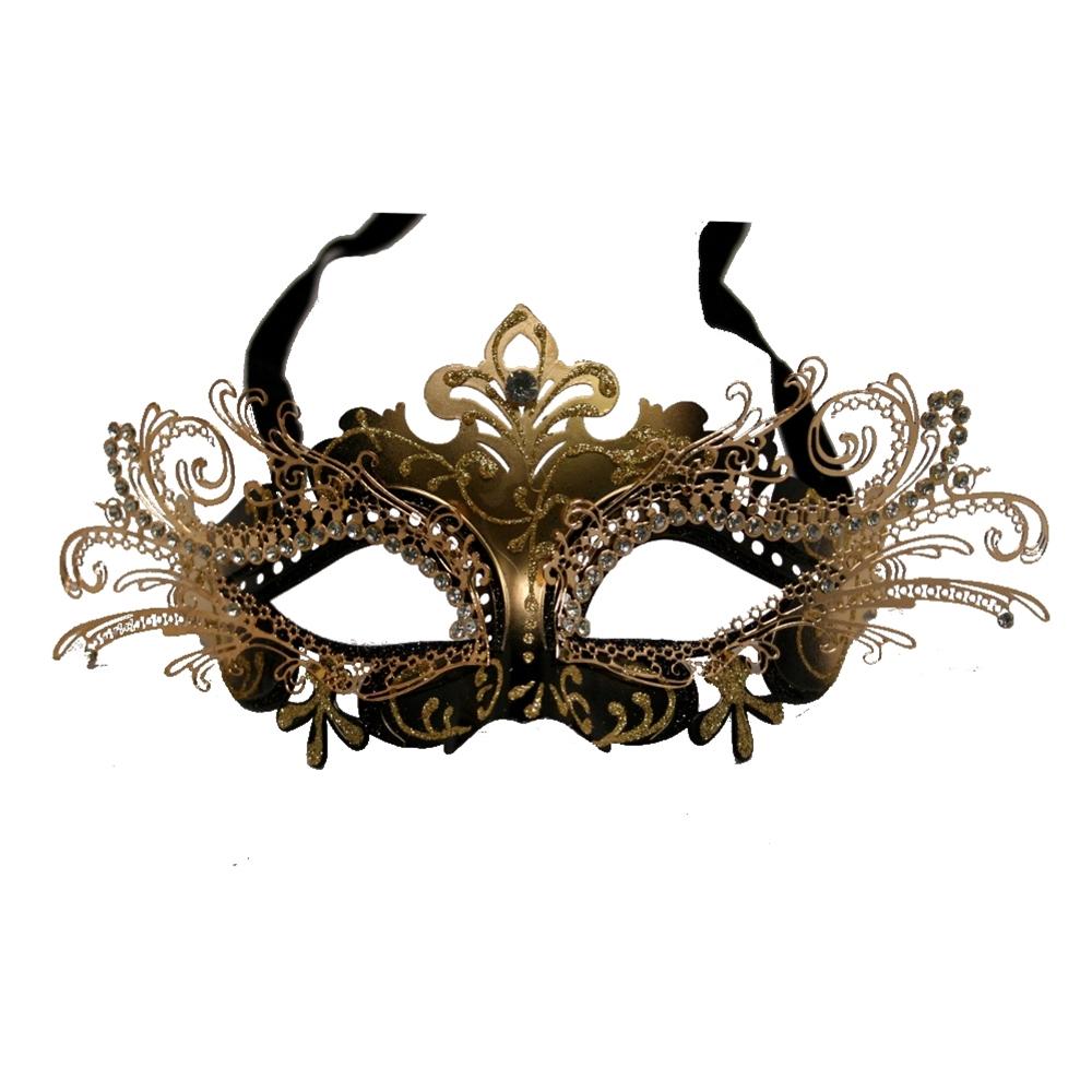 Venetian Gold Metal Half Mask
