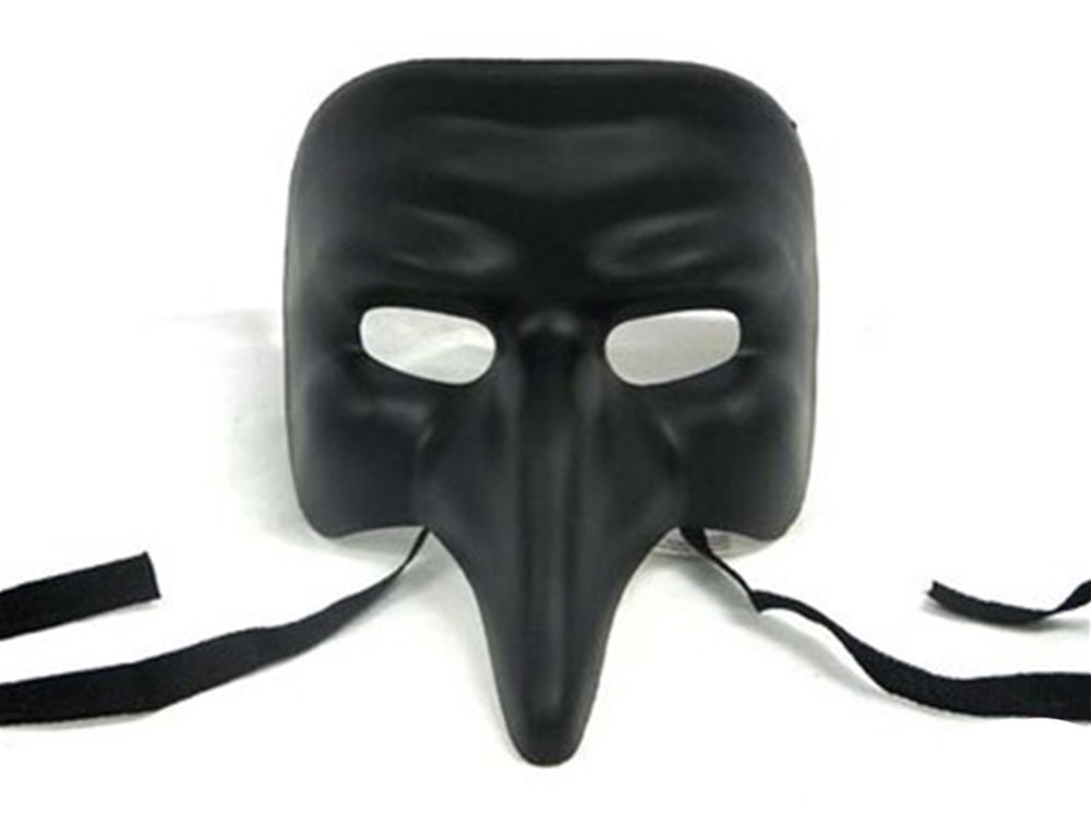 Venetian Nose Black Mask