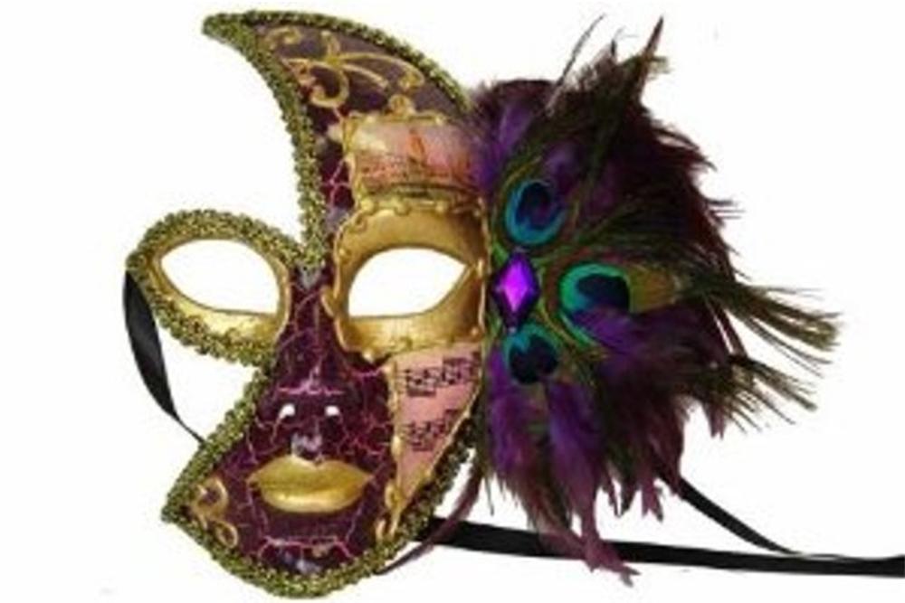 Venetian Side Feather Mask