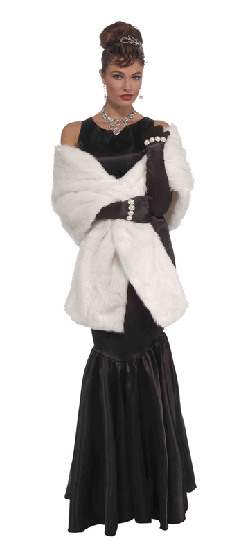 Vintage Hollywood Faux Mink Stole