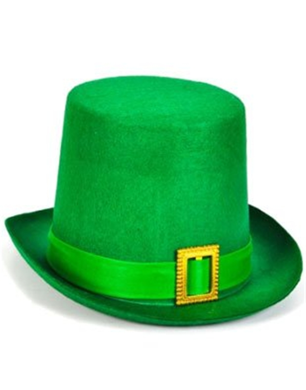 Green Felt Top Hat Adult by Jacobson Hat Co