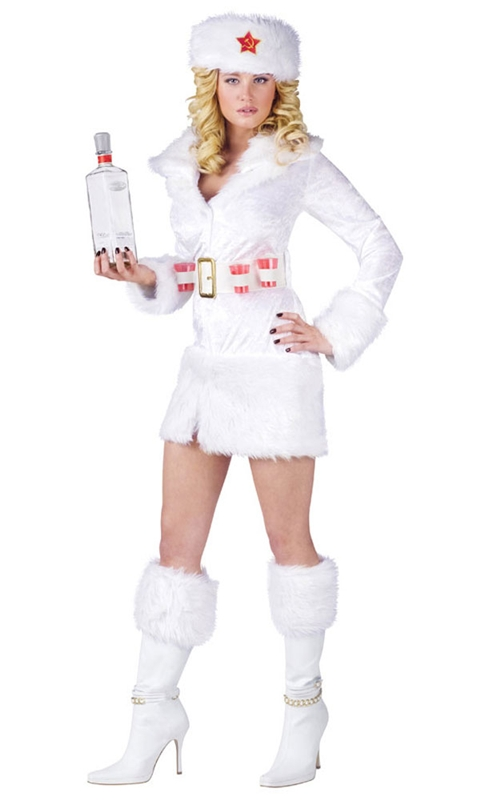 White Russian Adult Womens Costume