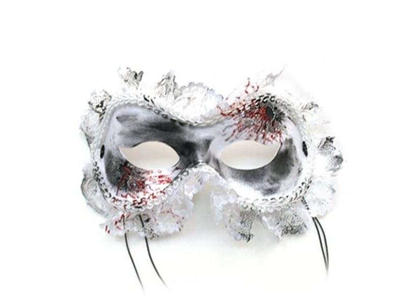 White Widow Blood Masquerade Adult Mask