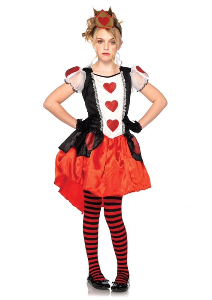 Wonderland Queen Girls Costume