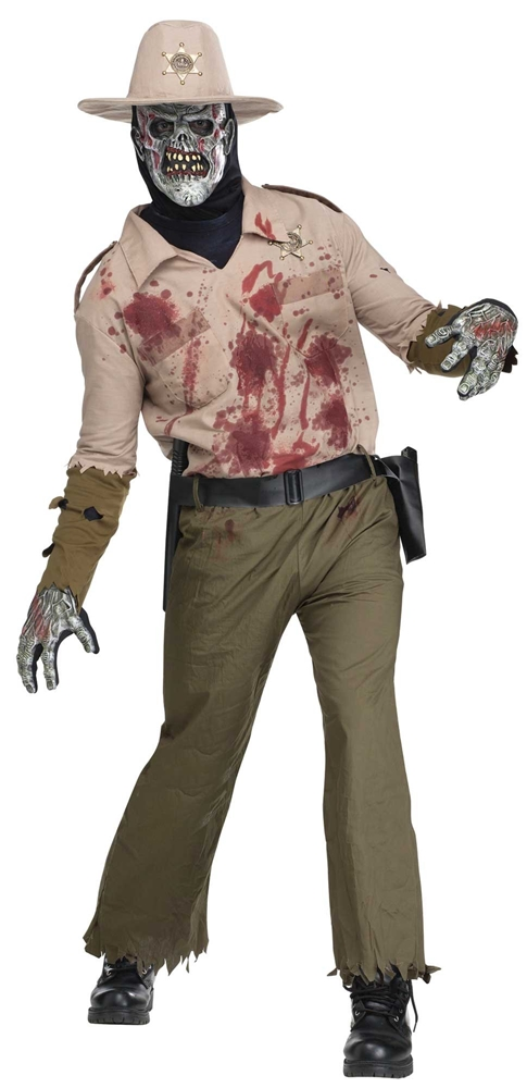 Zombie Sheriff Adult Mens Costume